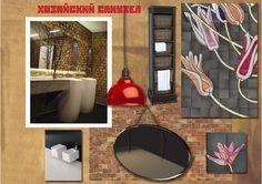 """Boho style bathroom collage by Anna Zhovnir, """"Interior design - Professional"""" course student in European Design School, Kiev, Ukraine. Концептуальный коллаж хозяйского санузла в стиле бохо слушательницы курса """"Дизайн интерьера - Профессионал"""" в Европейской Школе Дизайна Анны Жовнир. #style #boho #interiordesign #bathroomideas"""