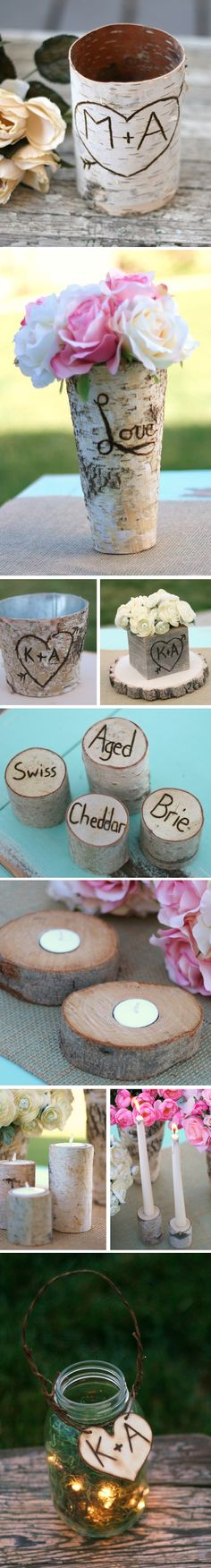 great blopost about wooden wedding decoration for rustic chic weddings