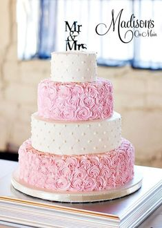 dusty rose pink wedding cakes More #weddingcakedesigns