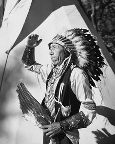 Sioux man looking away