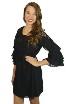 Flouncy sleeves with cute ruffle accents
