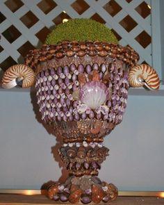 Seashell Bathroom Accessories Decor | Candle Holders | Seashell Mirrors  nice urn