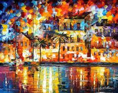 The Shores of Spain — PALETTE KNIFE Oil Painting on Canvas by AfremovArtStudio on Etsy, $239.00