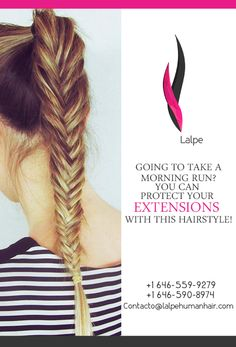 Going to take a morning run? You can protect your extensions with this hairstyle.