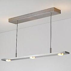 Brevis LED Linear Pendant Light by Cerno - Color: Silver - Finish: Brushed Aluminum - Office Lighting, Dining Room Lighting, Kitchen Lighting, Modern Lighting, House Lighting, Island Lighting, Linear Pendant Lighting, Modern Pendant Light, Pendant Lamp
