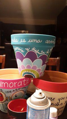 Pots D'argile, Clay Pots, Planter Pots, Clay Pot Crafts, Diy And Crafts, Cactus Clipart, Painted Flower Pots, Mothers Day Crafts, Terracotta Pots
