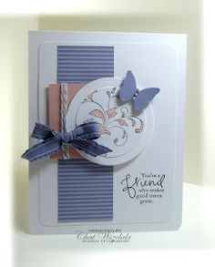 Love how the pattern paper strip matches the plain butterfly.