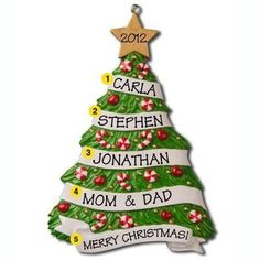 Family Grandma's Tree Personalized Christmas Ornament (4) (5)