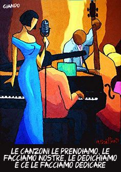 If you are someone who loves Jazz Art, abstract paintings, illustration, this pin is for you ! Jazz blue dress Painting by O Boissinot Dress Painting, Music Painting, Oil Painting On Canvas, African American Art, African Art, Vogel Illustration, Jazz Art, Arte Jazz, Jazz Poster