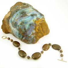 Ironstone (Queensland, Australia) and gold-filled bracelet by Gemtation Jewellery Queensland Australia, Handcrafted Jewelry, Jewelry Crafts, Gemstone Jewelry, Turquoise Bracelet, Jewellery, Gemstones, Bracelets, Gold