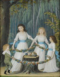 Johann Friedrich Leberecht Reinhold (1744–1807) - Der 69 te Herr [von Reuss], Comtesse Constance, Emilie und Theresa aus Köstritz, gemahlt von J. Reinhold aus Gera, den 25 ten Januar 1796
