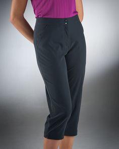 Nancy Lopez Ladies Golf Capris (Club) - Black or Khaki