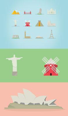 Famous Landmarks Free Icon Set