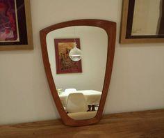 Asymmetric teak mirror c Danish G plan atomic mid century vintage retro Danish, Teak, Oversized Mirror, Mirrors, Retro Vintage, Mid Century, How To Plan, Furniture, Design