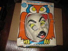 Vintage Ben Cooper GHOST Childrens HALLOWEEN COSTUME & MASK w/Box | eBay