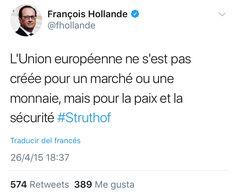 Hollande EU paz
