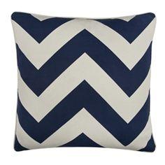 ✈ Navy Chevron Pillow by Thomas Paul ✈