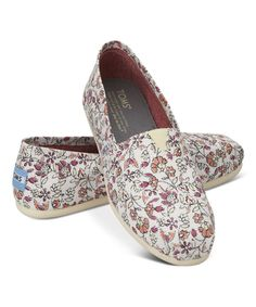 Look at this TOMS Pink Floral Classics on #zulily today!