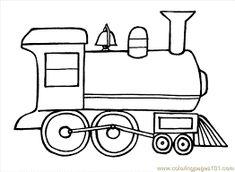 medios de transporte | transportation- coloring pages | pinterest ... - Polar Express Train Coloring Page
