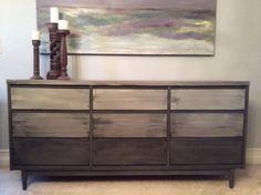 Shades of Grey Mid Century Modern Sideboard/Buffet/Dresser/Credenza on Etsy, $1,095.00