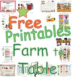 Farm To Table Fun For Kids - Activities, Worksheets and Coloring Pages