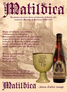 La prima ed unica birra dedicata alla contessa Matilde di Canossa (1046-1115). Toscana, Matilda