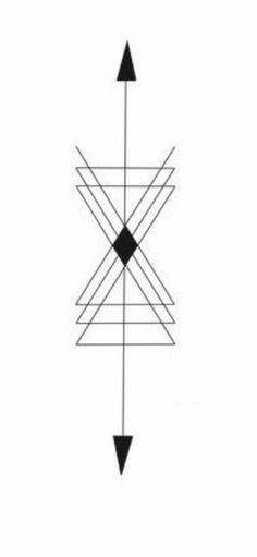 Géométrique tatoo sablier