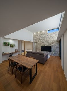 CASE671 実りの平屋 Modern Interior, Conference Room, Dining Table, Loft, House Design, Architecture, House Styles, Furniture, Home Decor