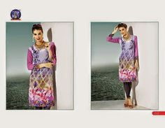 Beautifully designed indo-western Georgette Kurti digitally Printed Light Purple colored. Available in sizes from S to XL