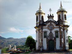 Partidas e Chegadas: Ouro Preto – Minas Gerais - igreja S. Francisco de Assis obra rima do Aleijadiho