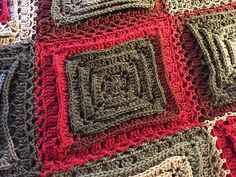Introducing the Hypnotic Tiles Afghan by me, Mikey of The Crochet Crowd. This is using Caron Cakes Yarn featuring the Red Velvet Colour.