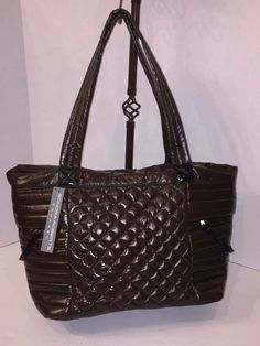 Item specifics     Condition:        New with tags: A brand-new, unused, and unworn item (including handmade items) in the original packaging (such as    ... - #Handbags https://lastreviews.net/fashion/womens/handbags/bnwt-sondra-roberts-squared-brown-quilted-laptop-shopper-tote-bag-msrp-75/