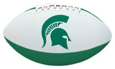 NCAA Michigan State Tailgater Football by Licensed Products. $16.95. Packaged With Black Kicking Tee. Junior Size Playable Football - 10-Inches. Designed With Team Colors and Primary Logo. Stitched Rubber Material For Ease In Throwing & Catching. Each football's playable pebble design is inspired by the helmets the teams wear on the field - bringing the action closer to the backyard or park than ever before!