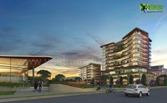 Get 3D Architectural Exterior Rendering, Modeling and CGI Design by Yantram Animation Studio