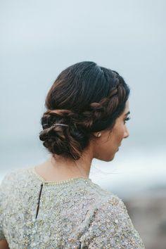 Side dutch braid: http://www.stylemepretty.com/destination-weddings/2017/02/08/haiku-mill-elopement-a-silver-dress-designed-by-the-bride/ Photography: Melia Lucida - http://www.melialucida.com/