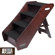 Safely get your pet to and from your bed,couch, chairs and other areas with the Animal Planet Wooden Pet Steps. Folding design allows you to conveniently store your pet steps when not in use.