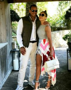 Gorgeous couple: Jennifer Lopez and Alex Rodriguez cuddled up for a cute snap posted on I. Alex Rodriguez, J Lo Fashion, Fashion Outfits, Love Is In The Air, Blazers, Glamour, Beautiful Couple, Celebrity Style, Celebrity Dresses