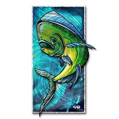 MAD Outfitters™ Megan Duncanson 'Dolphin 1' Abstract Metal Wall Art | Overstock.com Shopping - Big Discounts on Metal Art ALL RIGHTS RESERVED COPYRIGHT PROTECTED