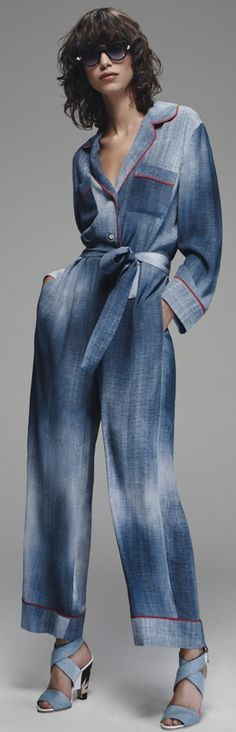 Fendi Resort 2016 denim jumper #Style - model - ss16