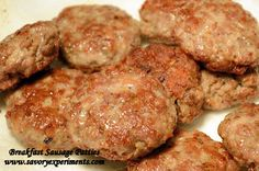 And my quest to learn aboutsausagemaking continues with breakfast sausage. I have to say that the second time around (after Italian Sausages) was much easier! For breakfast sausages I decided to mold into patties versus stuffing them in casings. I also took my own advice and only ground them once on a coarse grind....