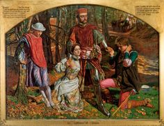 Valentine Rescuing Sylvia from Proteus by William Holman Hunt, oil on canvas, 1851