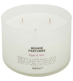Pure Bougie 3 mèches - 20€ - Figue & Noix (www.habitat.fr)