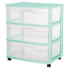 Sterilite® 3 Drawer Wide Cart- Hotwire Aqua - I bought this to put in my closet for shoes. LOVE it!!