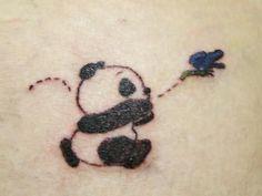 Panda Cute Design Tattoo
