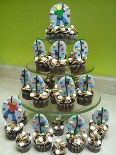 Rock Climbing Fondant Cupcake Toppers