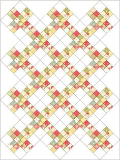 Stashbuster block quilt on point from LittleMissShabby.com. A few variations and links.