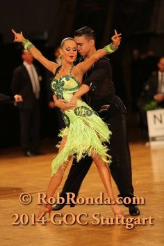 Nikita Pavlov and Dariia Palyey at GOC Stuttgart 2014. Young upcoming couple just started dancing in the adult latin category. Visit http://ballroomguide.com/workshop/latin.html for info about Latin workshops from the pros.