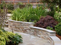 Properly designed and installed rock walls can be used as a permanent solution for raised garden beds.