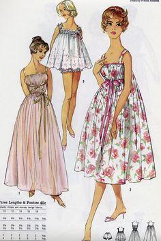 Vintage Simplicity 3023 CUT Misses Grecian by RomasMaison Vintage Dress Patterns, Clothing Patterns, Vintage Dresses, Vintage Outfits, 1960s Fashion, Vintage Fashion, Patron Vintage, Pajama Pattern, Retro Mode