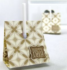 Stampin Up UK Lollipop Treat Holder Tutorial